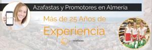 Cualquier lugar de Almería es perfecto para realizar acciones de azafatas Almería con la mejor agencia de azafatas y promotoras en Almeria.