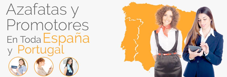 Azafatas y promotores en toda España y Portugal